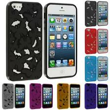 TPU 3D Color Butterfly Flower Rubber Skin Case Cover for Apple iPhone 5 5G 5S