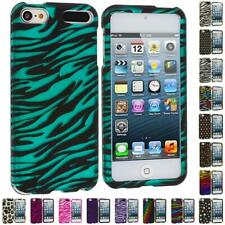 Zebra Polka Dot Hard Design Rubberized Skin Case Cover for iPod Touch 5th Gen 5G