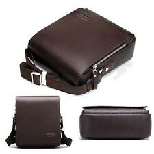 Mens PU Leather Handbag Briefcase Men Boy Laptop Shoulder Bag Messenger Bag