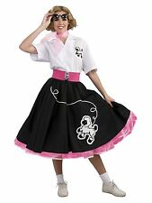 Women's 1950s Black Poodle Skirt Costume