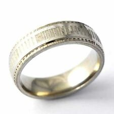 Gold Filled Mens Band Unisex Ring size 8 9 10 11 12