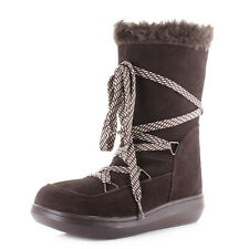 Womens Rocket Dog Snowcrush Chocolate Suede Faux Fur Flat Winter Boots Size