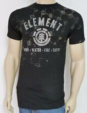 Element Skateboards Eroded Graphic Tee Mens Black 100% Cotton T-Shirt New NWT