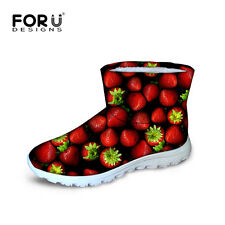 Fruits Fashion Women Ladies Ankle Snow Boots Winter Warm Waterproof Boots Snow