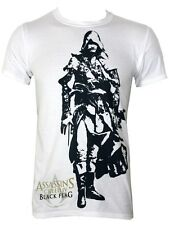Assassins Creed IV Black Flag Edward Kenway Mens White T-Shirt