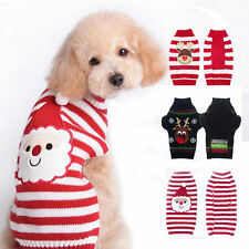 Pet Dog Cat Christmas Warm Striped Sweater Puppy Clothes Coat Costume Apparel