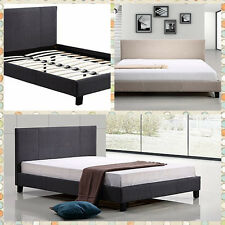 New Single/Double/Queen/King Linen Fabric upholstered Bed Frame & Bed Head
