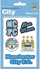 New Blue Moon Manchester City Football Club Temporary Tattoos