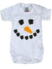 Little Snowman White Baby Grow