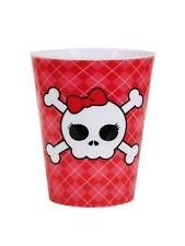 Single Skull with Bow Plastic Shot Glass