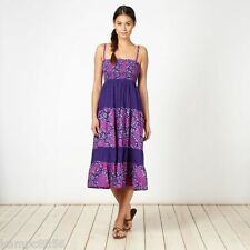 New Mantaray Purple Floral Bandeau Dress/Maxi Skirt Sz UK 8