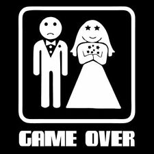 GAME OVER (husband bachelor party poster marriage adult drunk offensive) T-SHIRT