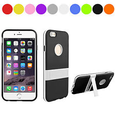 Fashion Matte Skin Transparent Silicone Plastic Hard Back Stand Case For iPhone6