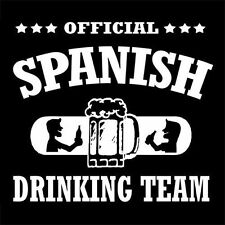 OFFICIAL SPANISH DRINKING TEAM (Spain weed drunk beer ultras football) T-SHIRT