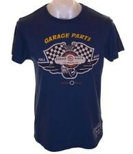 Bnwt Authentic Mens Christian Audigier Full Race T Shirt Enzyme Wash Blue Small