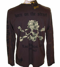 Bnwt Genuine Mens Smet Liberty Skull Long Sleeve T Shirt XL Christian Audigier