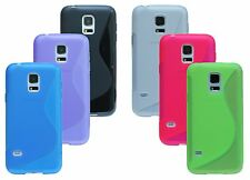 Silicone Protective Accessories five Rubber + foil Samsung Galaxy S5 Mini G800f