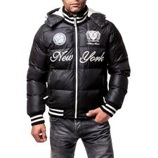 Men's Winter Bomber Jacket Quilted Jacket Winter Jacket Down - Look in Black