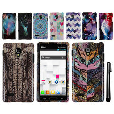 For LG Optimus L9 P769 PATTERN HARD Case Snap On Phone Cover Accessory + Pen