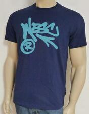 WESC Registered Script Graphic Tee Mens Navy Blue 100% Cotton T-Shirt New NWT