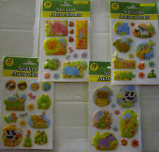 NEW ZOO ANIMALS  *Your Choice*   Glitter Puffy Stickers GREENBRIER
