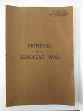 1914 New York Times PICTORIAL of the EUROPEAN WAR, 5 Bound Weekly Issues