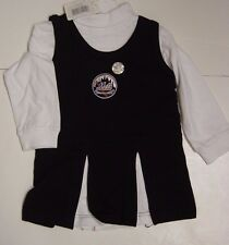 NEW Infant Toddler Girls New York NY METS 2 piece Cheer Cheerleader Outfit
