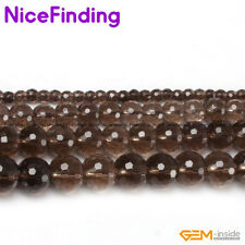 "Wholesale Round Faceted Genuine Gemstone Beads For Jewelry Making 15""Stone Pick"