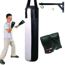 Junior 0.8m Filled Boxing Punch Bag Set Kids Training Gloves Punching Mitts MMA