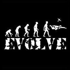 SKYDIVING EVOLUTION (Sky Diving Parachute Parachuting Skydiver Evolve) T-SHIRT