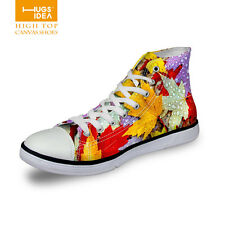 Newest Fashion Womens Girls High Top Shoes Sneakers Flat Classic Canvas Shoes