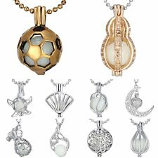 1Pcs Steampunk Magic Locket Fairy Glow in the Dark Pendant Heart Necklace Gifts