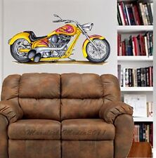 Custom Chopper Bike WALL GRAPHIC FAT DECAL MAN CAVE BAR ROOM GARAGE BIKER #9004
