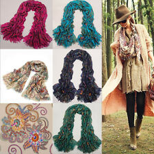 Vintage Women's Scarf Pashmina Flower Totem Retro Paris Yarn Bohemian Shawl Wrap