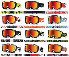 2016 SMITH FUEL V2 SWEAT-X MOTOCROSS MX ENDURO GOGGLES MIRRORED LENS TEAR OFF