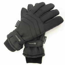 Mens Padded Thinsulate Gloves Thermal Lined Ski Gloves Motorbike Gloves Outdoor