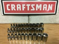 "NEW CRAFTSMAN 1/4"" SHALLOW SOCKET SET SAE OR METRIC YOUR CHOICE VARIOUS SETS"
