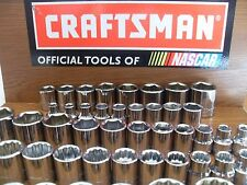 "NEW CRAFTSMAN 3/8"" SHALLOW SOCKET SET SAE OR METRIC 6 /12 PT CHOICE VARIOUS SETS"
