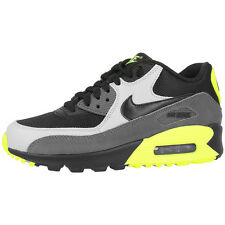 NIKE AIR MAX 90 MESH GS SHOES BLACK GREY SNEAKER TRAINERS 724824-002