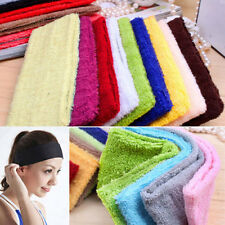 14 Colors Fashion Women Terry Cloth Cotton Headbands Yoga/Gym/Workout Sweatbands