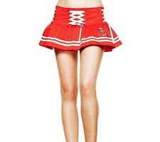 HELL BUNNY Nautical MINI SKIRT Sailor MOTLEY RED Skull