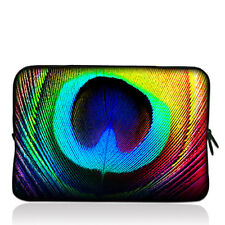 "Peacock Feather 7Inch Sleeve Case Cover Pouch Bag For 7"" RCA Android Tablet PC"
