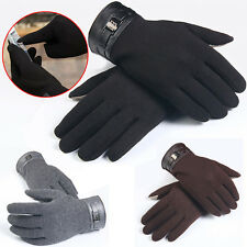 Mens Winter Full Finger Smartphone Touch Screen Mittens Drive Cashmere Gloves