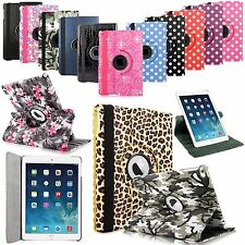 For Apple iPad 2 3 4 Mini & Air PU Leather Rotating Smart Stand Flip Case Cover