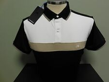 NEW FALL MENS J. LINDEBERG Toini SLIM FIT Golf Polo Shirt, BLACK, SIZE X-LARGE