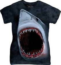 The Mountain Shark Bite Blue Ladies T-Shirt S,M,L,XL,2XL