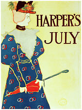 730.Harpers july. Art Wall Decoration POSTER.Graphics to decorate home office.