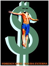 711.Foreing Debt Art Wall Decoration POSTER.Graphics to decorate home office.
