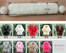 Good Women Winter Fluffy Faux Rabbit Fur Collar Scarf Shawl Stole Wrap Cape Warm