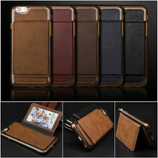 Luxury Leather Card Holder Wallet Stand Back Cover Case for iPhone 6 6S Plus NEW